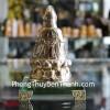 Phật quan âm ngồi đế thủy tinh H260G
