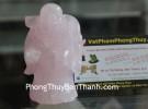 Phật di lặc thạch anh hồng đứng GM163