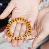 Chuỗi Hổ Phách hạt đĩa nâu vàng A S6356-4834