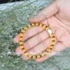 Chuỗi Hổ Phách hạt đĩa nâu vàng trong A S6357-3127
