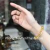 Chuỗi Hổ Phách hạt đĩa nâu vàng trong A S6357-3269