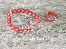 Nhẫn mã não đỏ bản tròn nhỏ S6470