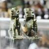 Cặp kỳ lân đá lam ngọc có đế GM079