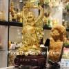 Phật di lặc ôm đỉnh vàng H237G
