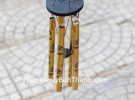 Chuông gió 5 ống nhôm vàng CG1250-17