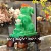 Chó xanh ngọc tháp đỉnh vàng C011A