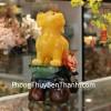 Chó vàng bên hoa mẫu đơn phú quý C014A