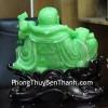 Phật di lạc xanh ngọc bên bắp cải C127A