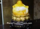Phật di lạc vàng cam đế xoay C132A