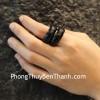 Nhẫn mã não đen nhỏ S6704