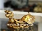 Rùa đầu rồng đồng mai nắp mở D288
