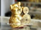 Vua heo ôm tiền vàng chiêu tài D298