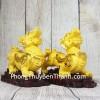 Cặp tỳ hưu vàng kim sa trên đống tiền gỗ LN062