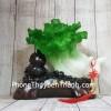Bắp cải xanh lớn uốn như ý trên hồ lô gỗ LN076
