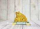 Thiềm thừ vàng trên đống tiền đế thủy tinh LN105
