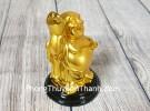 Phật di lạc tay cầm hồ lô nén vàng LN193