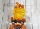 Hồ lô cam vàng ngọc lưu ly có chùm vải LN198
