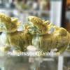 Cặp tỳ hưu đá lam ngọc xanh lớn GM014
