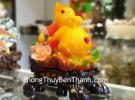 Chuột ngọc cam trên mẫu đơn ôm hồ lô TM003