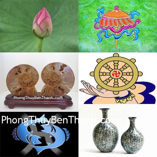 bieu tuong Tám bảo vật trong Phật Giáo