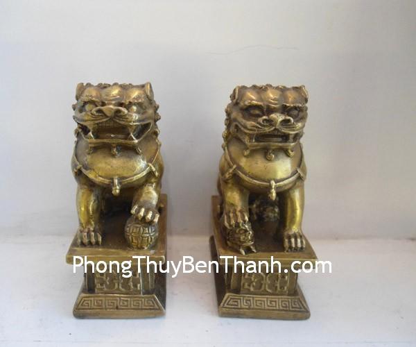 su tu dong lon Một cặp sư tử bảo vệ linh thiêng