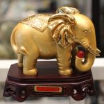 a256 voi vang de go 1 150x150 Cặp voi vàng đế gỗ A256