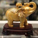 a256 voi vang de go 2 150x150 Cặp voi vàng đế gỗ A256