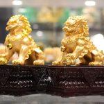 c125a cap su tu vang 1 150x150 Cặp sư tử vàng đế gỗ C125A