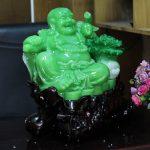 c127a di lac xanh 1 150x150 Phật di lạc xanh ngọc bên bắp cải C127A