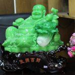 c127a di lac xanh 150x150 Phật di lạc xanh ngọc bên bắp cải C127A