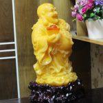 c128a phat di lac vang cam 1 150x150 Phật di lạc vàng cam dáng đứng lớn C128A