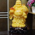 c128a phat di lac vang cam 150x150 Phật di lạc vàng cam dáng đứng lớn C128A