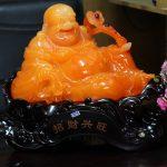 c129a phat di lac cam 150x150 Phật di lạc cam dáng ngồi như ý C129A