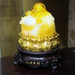 c132a di lac luu ly 1 150x150 Phật di lạc vàng cam đế xoay C132A