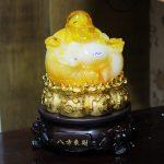 c132a di lac luu ly 2 150x150 Phật di lạc vàng cam đế xoay C132A