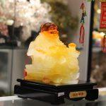 c135a phat luu ly 1 150x150 Phật di lạc vàng cam ngồi ngai vàng C135A