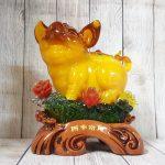 ln015 vua heo vang cam mau don 2 150x150 Vua heo vàng cam trên mây mẫu đơn LN015