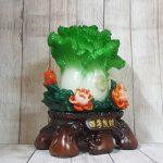ln068 bap cai xanh mau don 1 150x150 Bắp cải xanh đứng lớn trên bụi mẫu đơn đỏ đế gỗ LN068