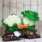 ln070 bap cai su lo lon 1 150x150 Bắp cải và hoa cải xanh trên bụi mẫu đơn lưu ly đế gỗ lớn LN070