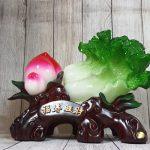 ln073 bap cai dao tien 2 150x150 Bắp cải xanh lớn bên đào tiên đỏ đế gỗ LN073