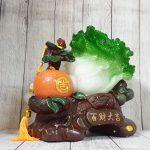 ln074 bap cai cam vang 1 150x150 Bắp cải xanh lớn bên cây trái cam đế gỗ LN074
