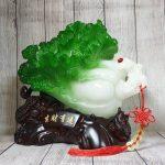 ln075 bap cai cuon nhu y cu lac 150x150 Bắp cải xanh lớn uốn như ý trên củ lạc gỗ LN075
