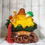 ln186 phat di lac luu ly 2 150x150 Phật di lạc cam vàng tay cầm như ý và bắp cải LN186