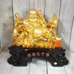 ln188 phat di lac ngu dong tu 150x150 Phật di lạc vàng bên ngũ đồng tử LN188