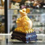 tm010 chuot vang nen vang 1 150x150 Chuột vàng ôm nén vàng đế gỗ TM010