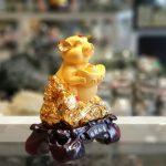 tm016 chuot vang dimh vang 1 150x150 Chuột vàng ôm đỉnh vàng trên gậy như ý TM016